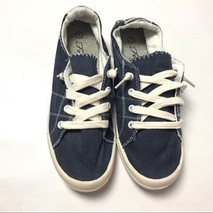 FOREVER Comfort Lace Up Canvas Shoes Tennis 7 Blue